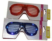 Light-Up Flashing LED Eyewear Glasses for Parties, Rave, Costume (Blue or Red)
