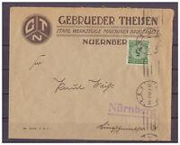 Deutsches Reich, MiNr. 339 innerhalb Nürnberg 29.01.1924 Maschinen-St