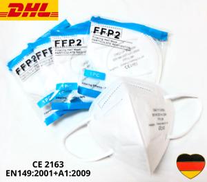 FFP2 Maske / Atemschutzmaske CE 2163 zertifiziert 5 lagig / gepolstert / 20x