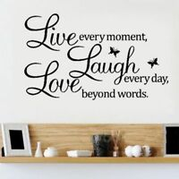 Live Laugh Love Wall Quote Vinyl Stickers DIY Wall Art Wall Decal Home Decor