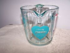 I LOVE MY PYREX 2 CUP / 500 ml TURQUOISE MEASURING CUP - NEW LIMITED EDITION