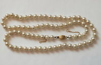 Antique Pearl Necklace Gold Clasp Chain