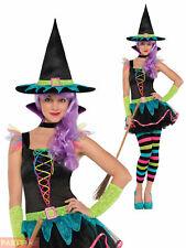 Christy's Neon Witch Teen Costume Girls Fancy Dress Costume