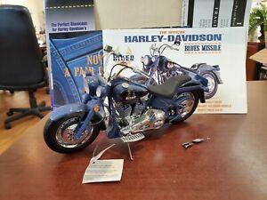 Franklin Mint Harley-Davidson Biker Blues Missile 1:10 DieCast Motorcycle MIB