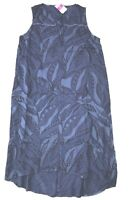 FRESH PRODUCE Medium Blue PALM LEAVES ADA Sleeveless Beach Dress $89 NWT New M