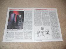 JBL XPL140 Speaker Review, 2 pg, 1990, RARE JBL Test, Titanium!
