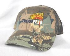 *TROUTFEST* Great Smoky Mtns Camouflage Fly Fishing Hunting Trucker Ball cap hat