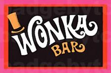 WONKA BAR  LARGE FRIDGE MAGNET  -  RETRO COOL!
