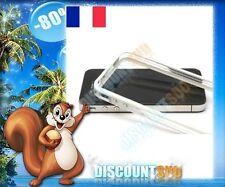 Bumper Tpu Rigide Boutons Métalliques transparent et blanc iPhone 4 et 4S + FILM