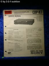 Sony Service Manual CDP K1 CD Player (#2188)