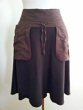 Transit Par-Such size 2 chocolate wool flared skirt, made in Italy