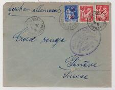 1941 France Concentration Internment Camp de Gurs prisoner Cover to Red Cross