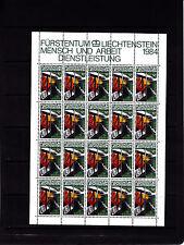 Liechtenstein Series courantes l'homme et le travail 5r feuille 20 TP n° 790