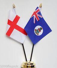 Angleterre & Îles Caïmans 1958 Pour 1999 Double Amitié Table Drapeau Ensemble