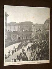 Roma Corteo funebre di Re Umberto I
