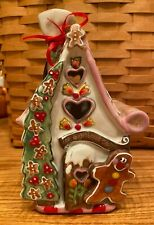 Blue Sky Clayworks The Gingerbread Cottage Christmas T Light House Reindeer