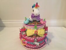 Girl's 2 Tier Unicorn Diaper Cake
