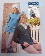 Vintage Patons knitting pattern, jumpers, men & women, double knitting 6395
