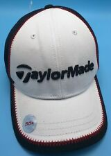 TAYLORMADE white / black adjustable cap / hat - cotton blend  **Unworn**