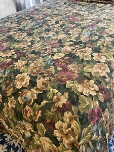 RALPH LAUREN  EDGEFIELD FLORAL KING DUVET Comforter COVER Rich Green Floral