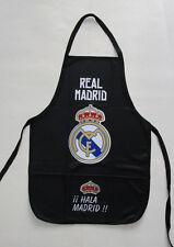 Unisex's Real Madrid Apron, New Black Blu White Mandil Del Real Madrid Merengues