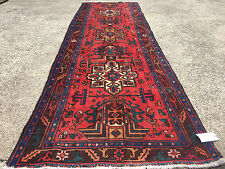 3x10 Hand Knotted Persian Iran Heriz Rug Runner Woven Wool Made 3 x 10 Antique 9