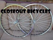 "26/"" x 2.125 STEEL BICYCLE BALOON WHEELSET 5//7 SPEED  HEAVY DUTY 36 12ga SPOKES"