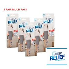 WOMENS 5 PACK SHEER RELIEF COMPRESSION SHEERS Stockings Pantyhose Shapewear