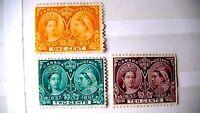 Canada #57 1897, unused, 10, 2 ,1  cent stamps