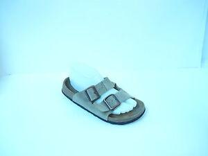 BETULA Birkenstock Beige Fussbelt Buckle Slides Sandals Size 8