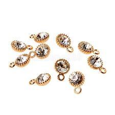 10x DIY Crafts Golden Crystal Clasp Charm Pendant Necklace Bracelet Jewelry