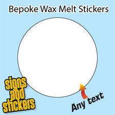 600 wax melt stickers 45mm diam