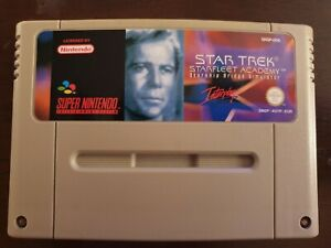 Super Nintendo SNES - Star Trek Starfleet Academy Tested & Working