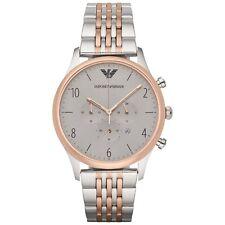 EMPORIO ARMANI Beta Chronograph Grey Dial Two-tone Men's Watch AR1864