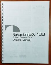Nakamichi BX-100 Cassette Deck Owners Manual