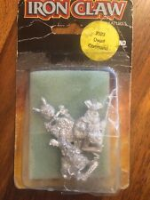 Iron Claw Gothic Dwarf  Command Rare  New Blister Games Workshop Metal Dwarves