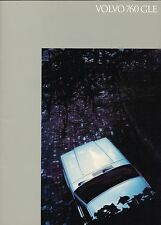 Lrg. 1984 VOLVO 760 GLE Brochure / Catalog with Specifications, 760GLE