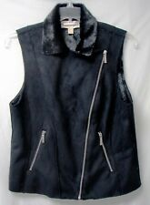 "MICHAEL KORS Ladies' ""DEL 3"" Faux Seal Fur Vest-Black-Misses' 14-NWOT-$300"