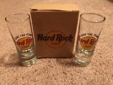 Pair Of Hard Rock Cafe Honolulu And Sydney Save The Planet Shooter Glasses.New!