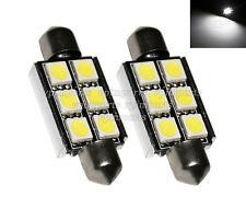 36mm 242 C5W Festoon CanBus LED SMD Xenon White License Number Plate Light Bulbs