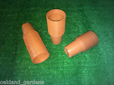 100 X 9CM TALL TERRACOTTA PLASTIC FULL SIZE FLOWER PLANT POTS POT 9CM DEEP 3.5""