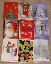 Lot of 100 Christmas Full Size Christmas Cards & Envelopes - BRAND NEW