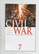 Civil War #7 - Classic Iron Man vs Captain America Cover! - (Grade 9.2) 2007