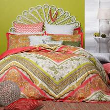 New LOGAN & MASON MARRAKESH CORAL Paisley DOUBLE Quilt Doona Duvet Cover SET