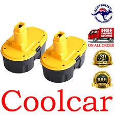 2 Batteries For Dewalt 18V 3Ah Ni-MH Heavyduty DW9095 DW9096 DC9096 DC9099 OZ
