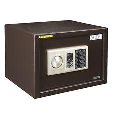 Small Safe Box Money Passport Hotel Office Security Box Metal Bronze Lock Home