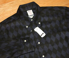 Brooks Brothers Slim Fit Button Down Dress Shirt NEW Blue Black Checker MED USA