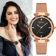 Geneva Classic Hot Luxury Women Stainless Steel Analog Quartz Wrist Watch Ladies