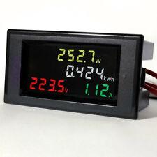 AC 80-300V LCD Digital Voltmeter Ammeter Volt Amp Power Kwh Panel Meter 100A