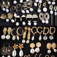 Neu Boho Flower Drop Earrings Geometric Dangle Statement Earring Jewelry